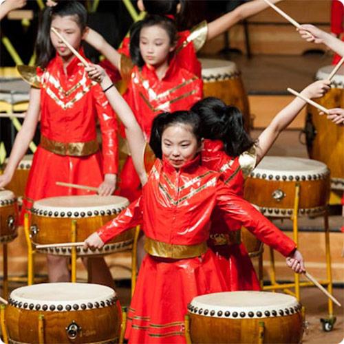 Chinesische-Trommelgruppe